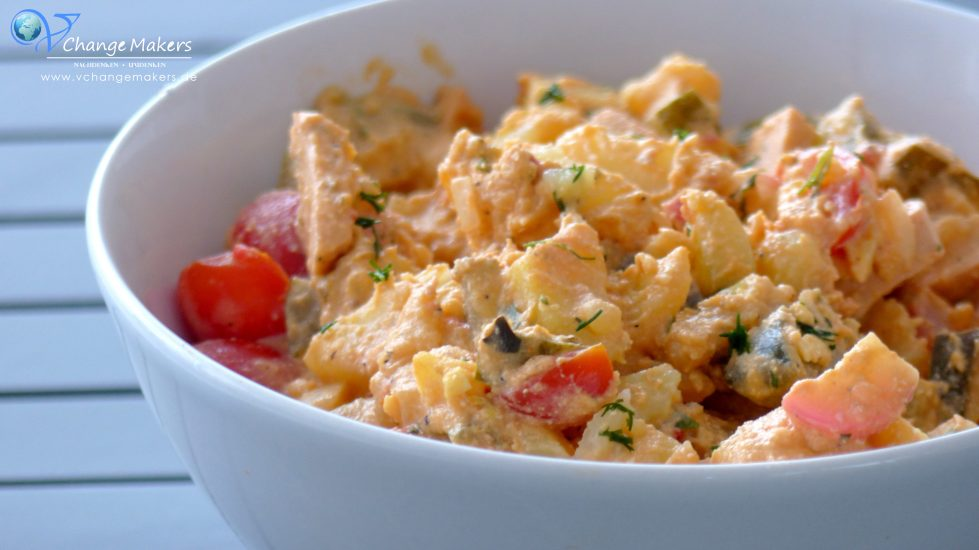 rezept veganer mediterraner kartoffelsalat ohne mayo. Black Bedroom Furniture Sets. Home Design Ideas