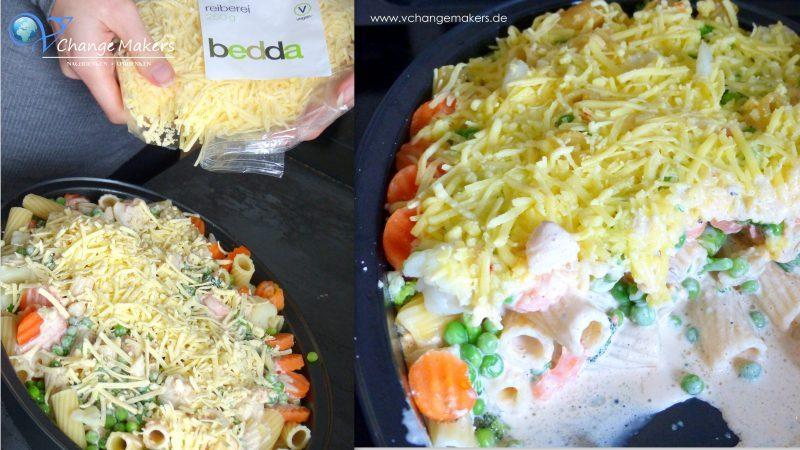 Rezept: Nudel-Gemüse-Auflauf mit Sahne – vegan
