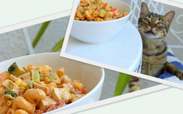 Rezept: Veganer Nudelsalat mit Fleischwurst und OHNE MAYO
