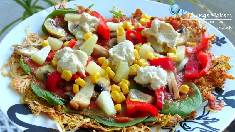 Rezept: Rohkostpizza – gesund und vegan – Dörrautomat Saro VeggyDry 432-1000
