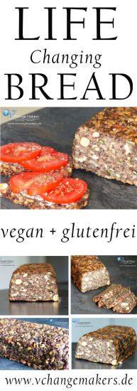 Rezept für das Life Changing Bread - Glutenfreies Brot ohne Mehl - Zubereitung in 10 Minuten - viele Ballaststoffe - gesund - reichhaltig - vegan!