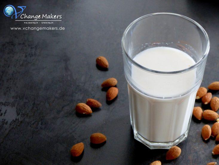 Rezept: Mandelmilch selbst machen mit nur 2 Zutaten. Günstig, gesund und lecker. Ihr braucht nur einen guten Mixer und schon kann es losgehen!