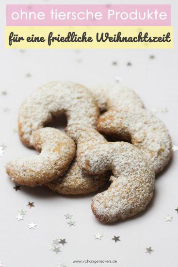 3 einfache Rezepte für vegane Weihnachtsplätzchen: Vegane Vanillekipferl, Ausstechplätzchen und unschlagbar leckere Kokosmakronen/Kokosflocken