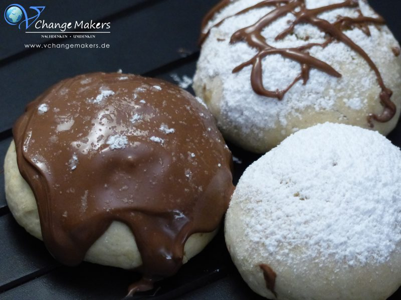 Rezept: Vegane Berliner – Krapfen im Ofen zubereitet – mit wenig Zucker