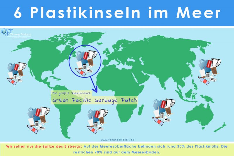 The Great pacific garbage patch plastik müll plastikinsel
