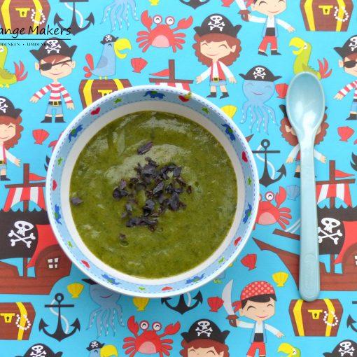 Rezept für einen veganen und einfachen Babybrei zum Mittagessen. Dazu etwas Noriflocken für eine optimale Jodversorgung. Eignet sich super zum Meal Prep