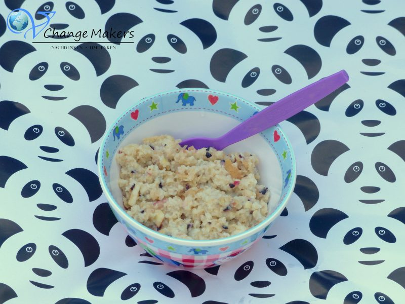 Rezept Babybrei: Zwieback mit Heidelbeeren und Apfel – vegan