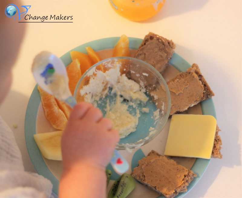 Vegane Kinderküche: Vitamin C Bomben und Eisen am Morgen – Frühstücksteller