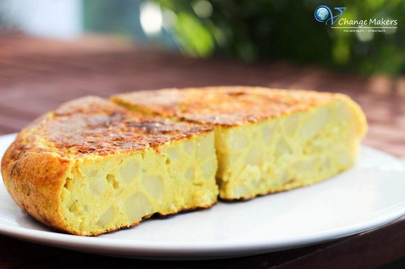 Rezept: Spanische vegane Tortilla – wenige Zutaten – kalorienarm – günstig – Olé!