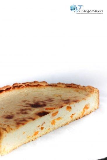 Tolles Rezept für einen unschlagbaren veganen Käsekuchen mit Mandarinen. Die Füllung ist ohne Margarine und somit kalorienärmer als bei üblichen Rezepten.