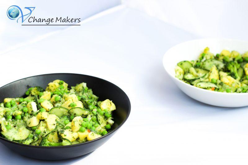 Rezept: Grüner Power Kartoffelsalat – kalorienarm – vegan