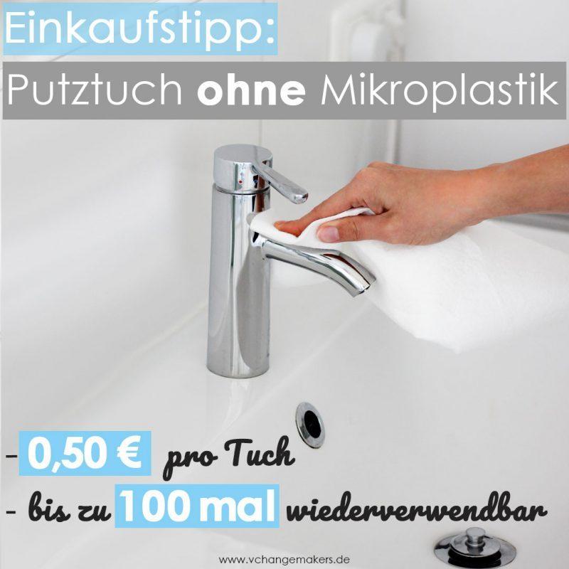 Mikroplastik ist ein wahnsinnig großes Problem. Das plastikfreie Putztuch kostet nur 0,50 € und ist bis zu 100 mal wiederverwendbar! + 10% Gutscheincode