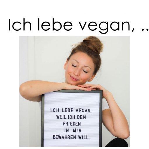 Wie ich mit der veganen Ernährung den Frieden in mir bewahre. Denn mit tierischem Eiweiß lösen wir einen ständigen Krieg in unserem Körper aus.