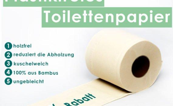 Einkaufstipp: Plastikfreies Toilettenpapier aus Bambus! Nachhaltig und holzfrei. Es ist ungebleicht und kuschelweich! Sag Plastik den Kampf an!