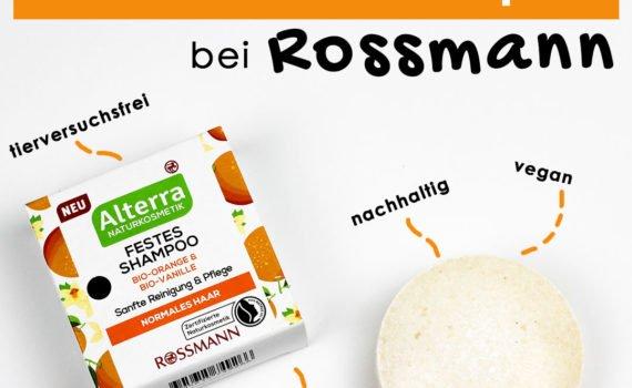 Rossmann hat zwei plastikfreie und feste Shampoos unter der Eigenmarke Alterra auf den Markt gebracht! Erfahre mehr darüber