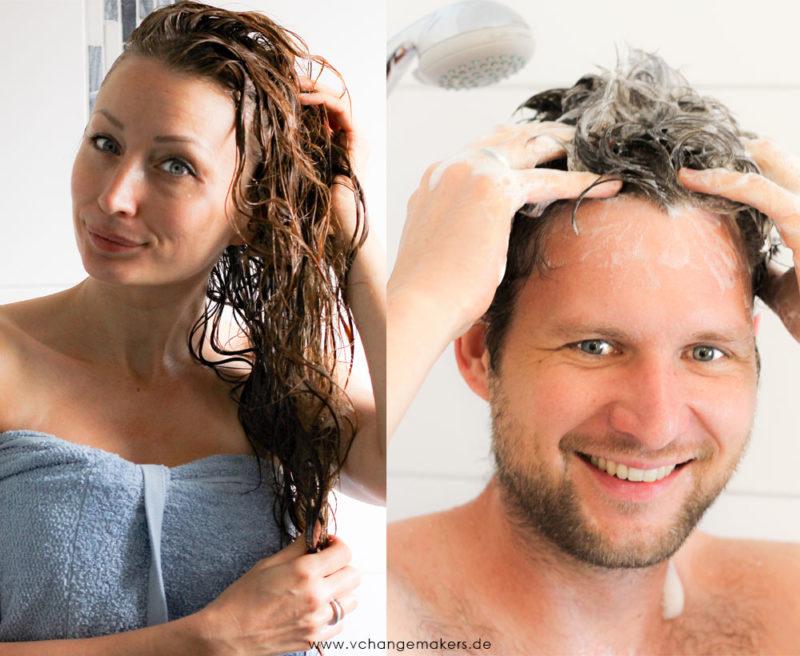 Knallerprodukt: 1000 ml Shampoo & Duschgel aus 100 Gramm selbst anrühren – all in.WASH.4-in-1.
