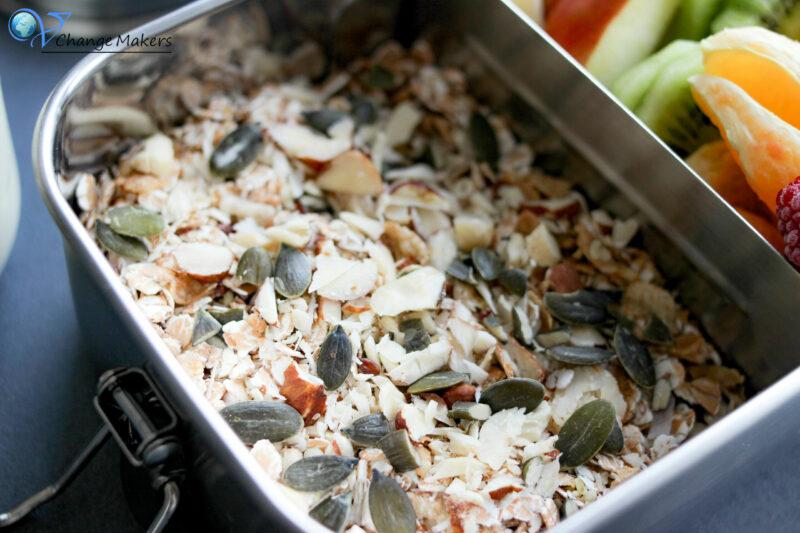 Leckere vegane und vollwertige Frühstücksideen und Inspirationen für Kinder Lunchboxen z. B. Kindergarten - nachhaltige Lunchboxen von pandoo