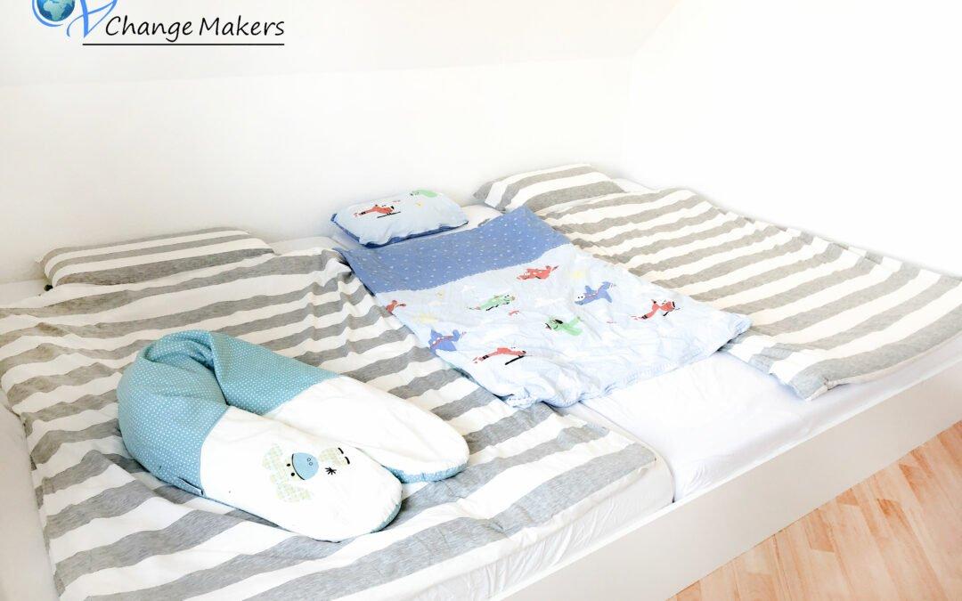 Unser DIY Familienbett: 3,20 m x 2 m für unter 190 Euro